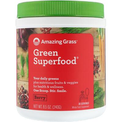 Фото - Green Superfood®, смесь из суперпродуктов с ягодным вкусом, 240 г (8,5 унции) sport белковая смесь премиум качества со вкусом ягод 801 г 28 3 унции