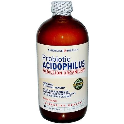 Пробиотик Ацидофилус, Обычный Вкус 16 жидких унции (472 мл)
