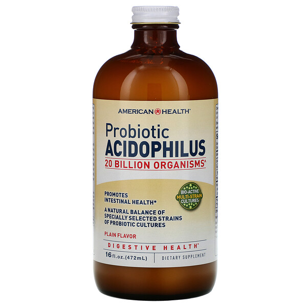 Probiotic Acidophilus, Plain Flavor, 16 fl oz (472 ml)
