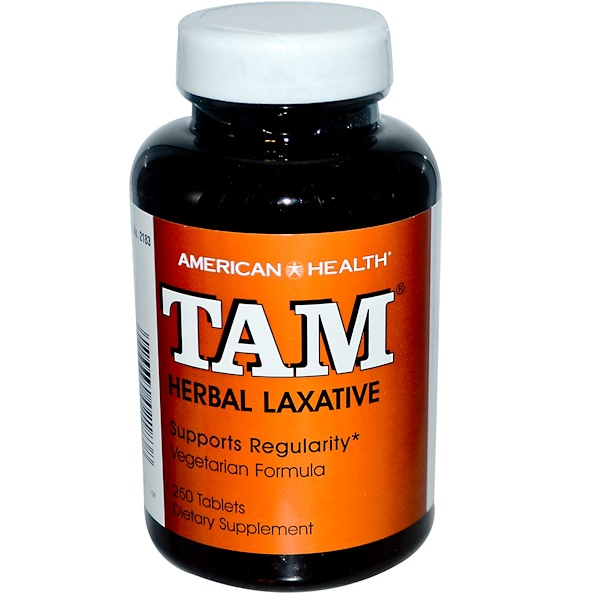 American Health, TAM, Laxante Herbal, 250 Tabletas