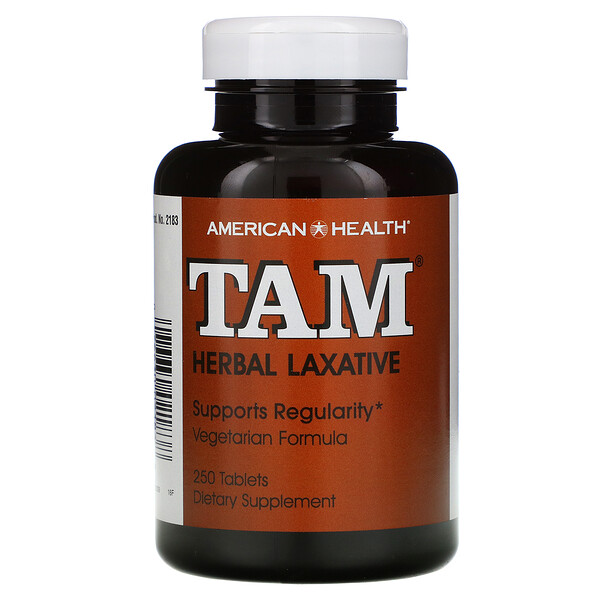 TAM, Laxante Herbal, 250 Tabletas