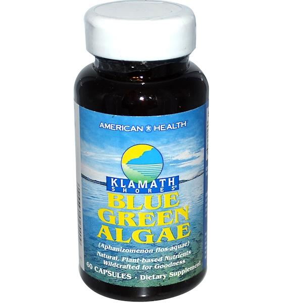American Health, Klamath Shores, Blue Green Algae, 60 Capsules (Discontinued Item)