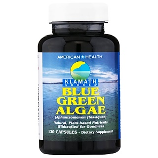 American Health, Klamath Shores, Blue Green Algae, 120 Capsules