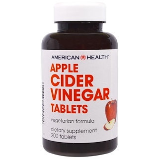 American Health, Apple Cider Vinegar Tablets, 200 Tablets