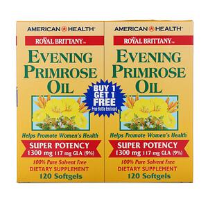 Американ Хелс, Royal Brittany, Evening Primrose Oil, 1300 mg, 2 Bottles, 120 Softgels Each отзывы покупателей