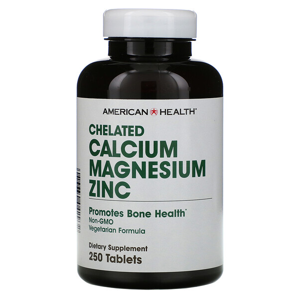 Chelated Calcium Magnesium Zinc, 250 Tablets