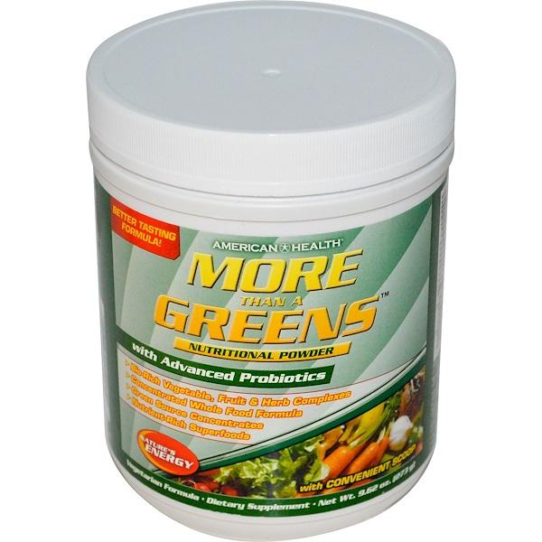 American Health, More Than A Greens, Nutritional Powder, 9.62 oz (273 g) (Discontinued Item)