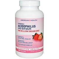 Acidophilus and Bifidum, Chewable, Natural Strawberry Flavor, 100 Wafers - фото