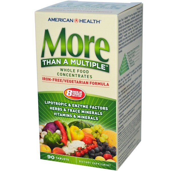 American Health, More Than A Multiple, Iron Free, 90 Tablets (Discontinued Item)