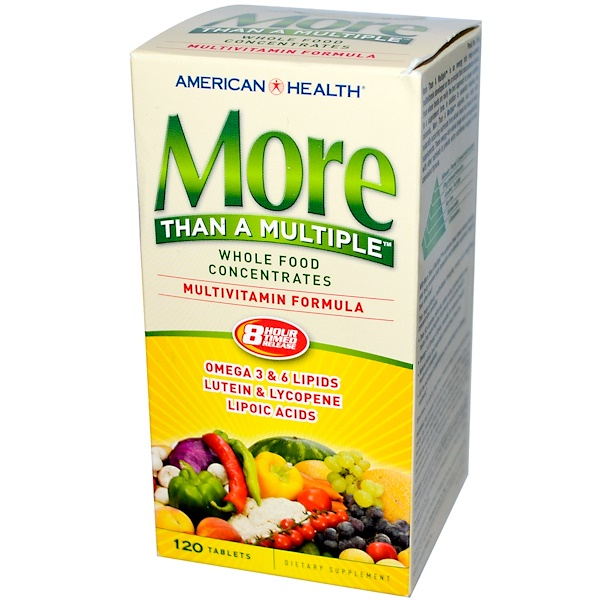 American Health, More Than A Multiple, Multivitamin Formula, 120 Tablets (Discontinued Item)