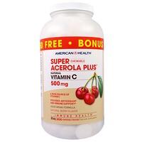 Пищевая добавка «Супер жевательная ацерола плюс», со вкусом натуральных ягод, 500 мг, 300 жевательных пластинок - фото
