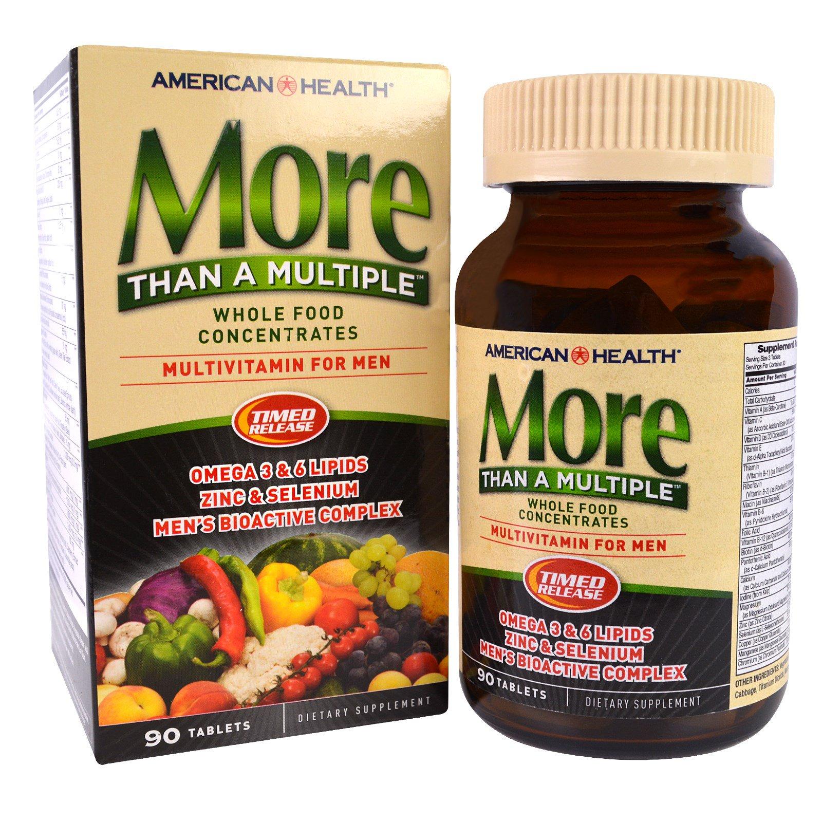 American Health, More Than A Multiple, Мультивитамины для мужчин, 90 таблеток