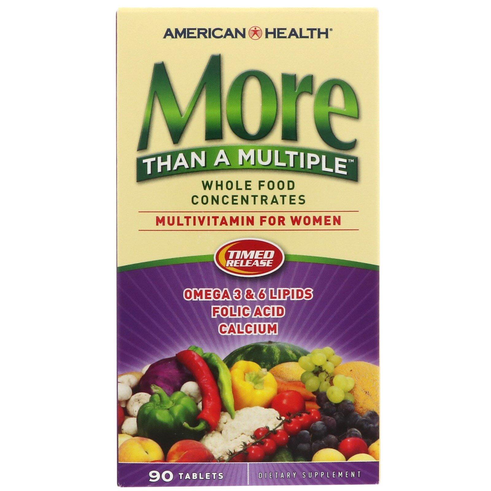 American Health, More Than A Multiple, Мультивитамины для женщин, 90 таблеток