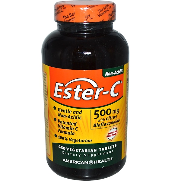 American Health, Ester-C with Citrus Bioflavonoids, 500 mg, 450 Vegetarian Tablets