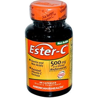 American Health, エスターC、 500 mg、 60カプセル