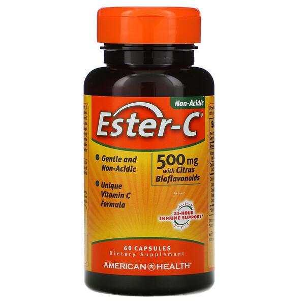 Ester-C, 500 mg, 60 Capsules