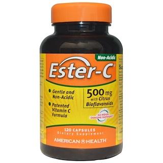 American Health, 에스테르-C, 시트러스 바이오플라보노이드 함유, 500 mg, 120 캡슐