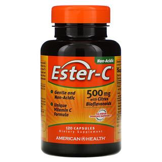 American Health, Ester-C с цитрусовыми биофлавоноидами, 500мг, 120капсул
