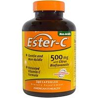 Ester-C, 500мг, с цитрусовыми биофлавоноидами, 240капсул - фото