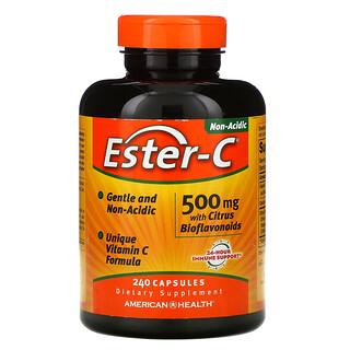 American Health, Ester-C с цитрусовыми биофлавоноидами, 500мг, 240капсул