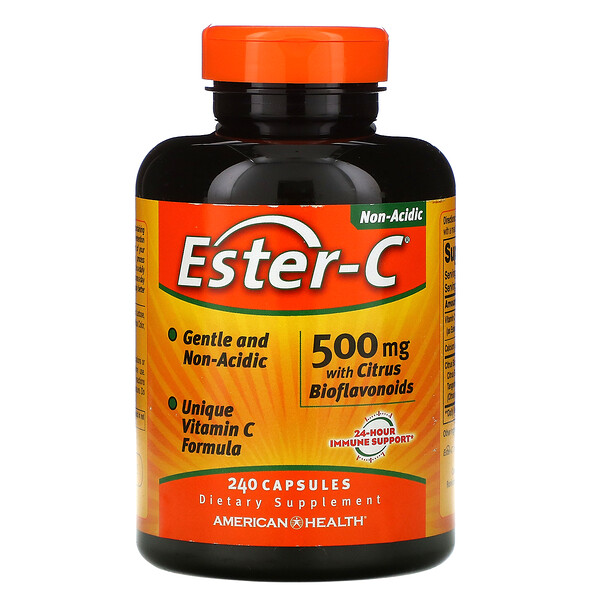 Ester-C with Citrus Bioflavonoids, 500 mg , 240 Capsules
