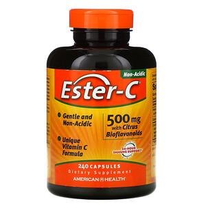 Американ Хелс, Ester-C with Citrus Bioflavonoids, 500 mg , 240 Capsules отзывы