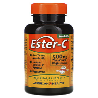 American Health, Ester-C with Citrus Bioflavonoids, 500 mg, 120 Vegetarian Capsules