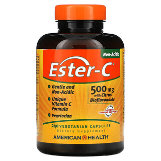 American Health, Ester-C with Citrus Bioflavonoids, 500 mg, 240 Vegetarian Capsules