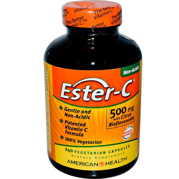 American Health, Ester-C with Citrus Bioflavonoids, 500 mg, 240 Veggie Caps