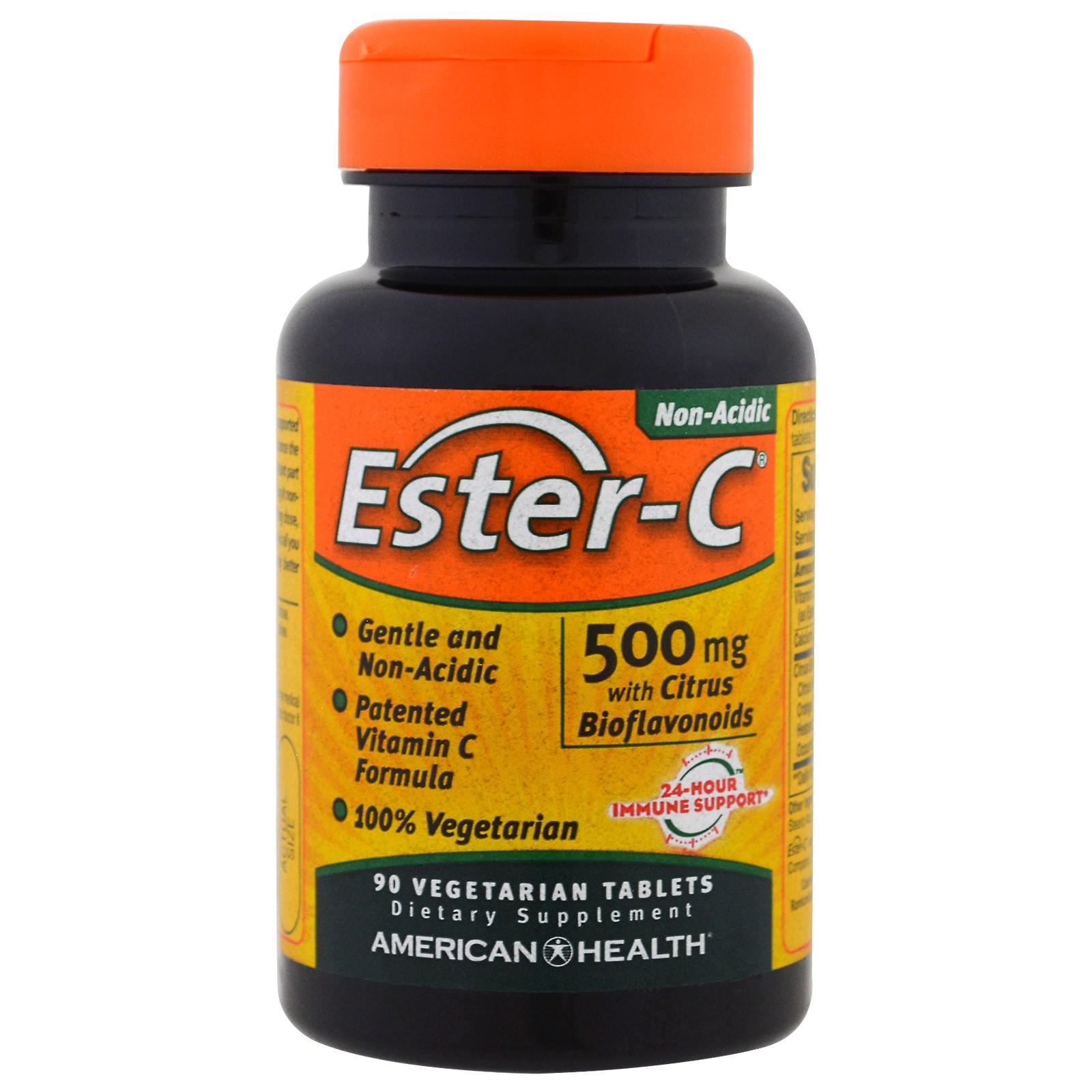 American Health, Эстер-C, 500 мг, 90 растительных таблеток