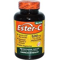 Эстер-C, 500 мг с цитрусовыми биофлавоноидами, 225 растительные таблетки - фото