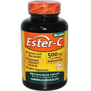 American Health, 에스테르-C, 500 mg, 시트러스 바이오플라보노이드 함유, 225 식물성 정