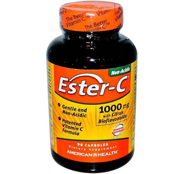 Ester-C with Citrus Bioflavonoids, 1,000 mg, 90 Capsules