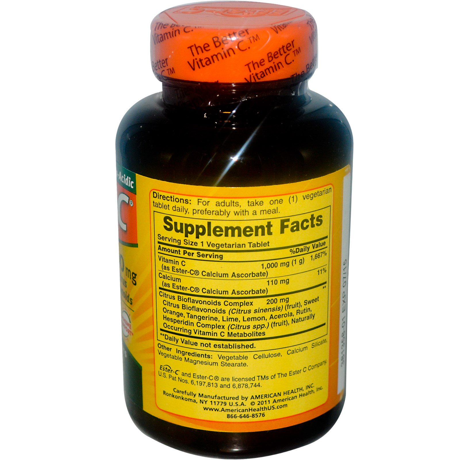 American Health, Ester-C, 1000 mg, 120 Veggie Tabs. By American Health