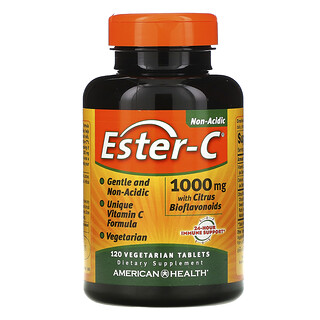 American Health, Ester-C with Citrus Bioflavonoids, 1,000 mg, 120 Vegetarian Tablets