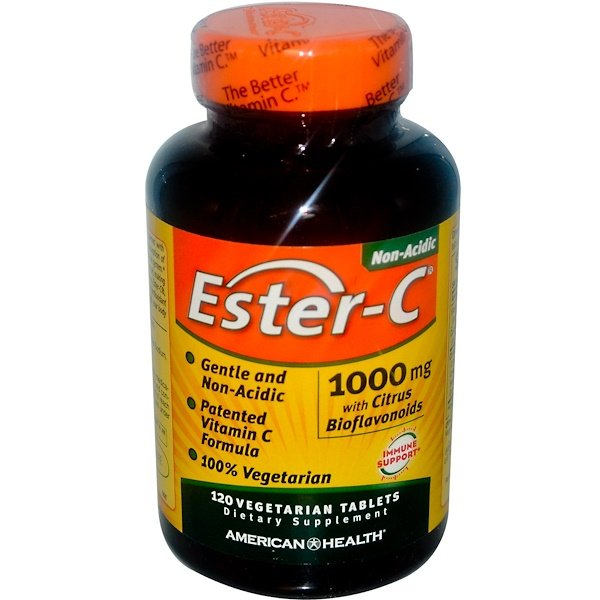 American Health, Ester-C, 1,000 mg, 120 Vegetarian Tablets