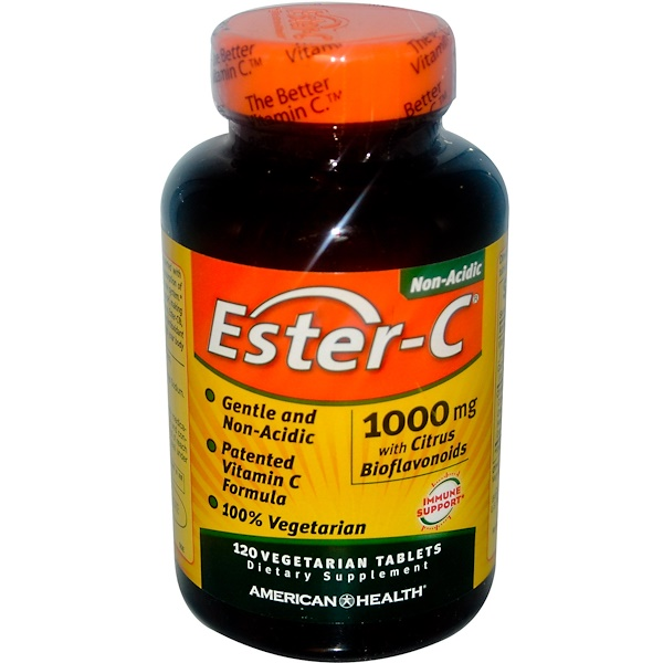 Ester-C, 1,000 mg, 120 Vegetarian Tablets
