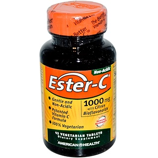 American Health, Éster-C, 1000 mg, 45 Cápsulas Vegetais