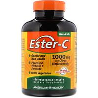 Эстер-C, 1000 мг с биофлавоноидами цитрусовых, 180 таблеток на растительной основе - фото
