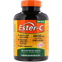 American Health, Ester-C with Citrus Bioflavonoids, 1,000 mg, 180 Vegetarian Tablets