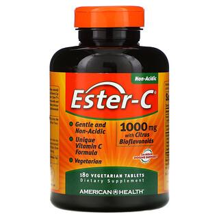 American Health, Ester-C с цитрусовыми биофлавоноидами, 1000мг, 180вегетарианских таблеток