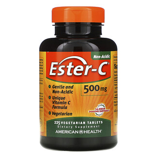American Health, Ester-C, 500мг, 225вегетарианских таблеток