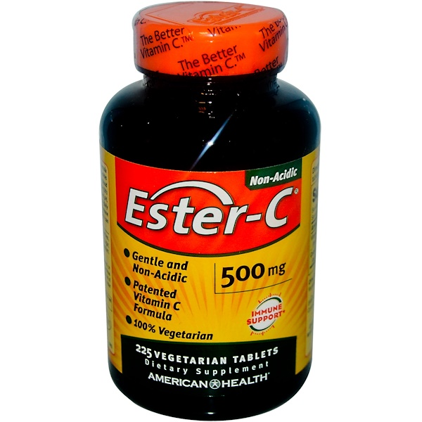 American Health, Ester-C, 500 mg, 225 tabletas vegetarianas