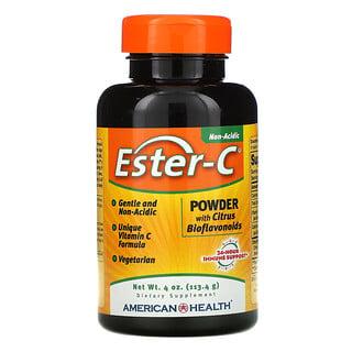 American Health, 에스터-C, 시트러스 바이오플라보노이드 함유 파우더, 4 온스 (113.4 g)