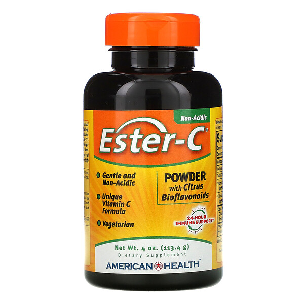 American Health, Ester-C, Powder with Citrus Bioflavonoids, 4 oz (113.4 g)