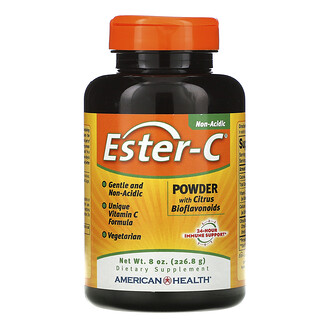 American Health, Ester-C, Powder with Citrus Bioflavonoids, 8 oz (226.8 g)