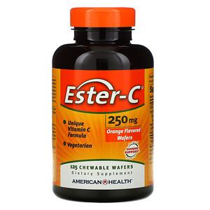 Американ Хелс, Ester-C, Orange , 250 mg, 125 Chewable Wafers отзывы