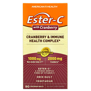 American Health, Ester-C with Cranberry, 90 Vegetarian Tablets