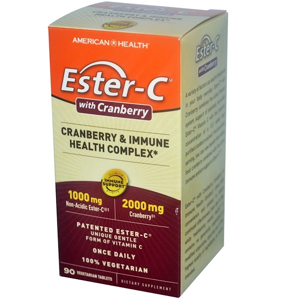 American Health, Ester-C with Cranberry & Immune Health Complex, 90 Vegetarian Tablets