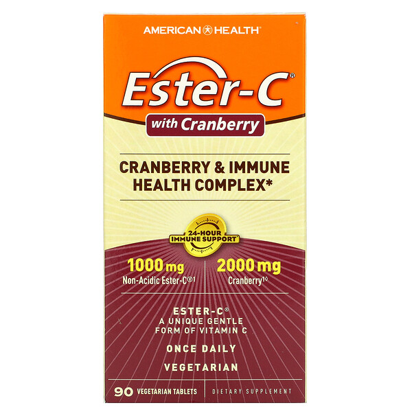 Ester-C with Cranberry, 90 Vegetarian Tablets